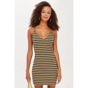 TOPSHOP STRIPED BODYCON DRESS
